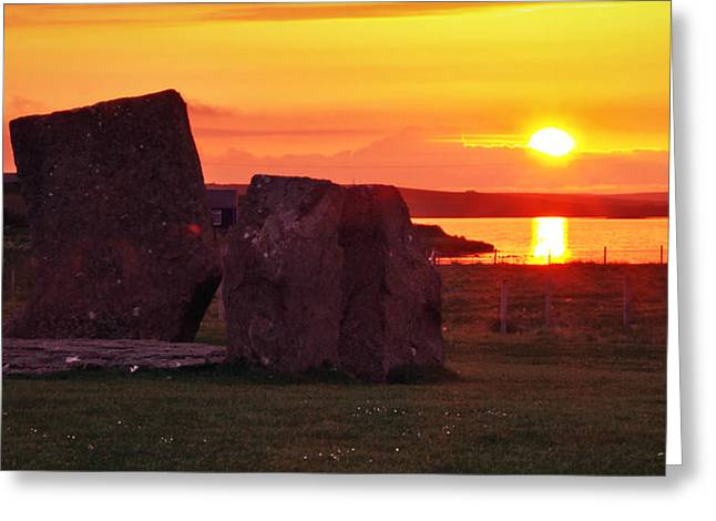 Stenness Sunset 2 Greeting Card by Steve Watson
