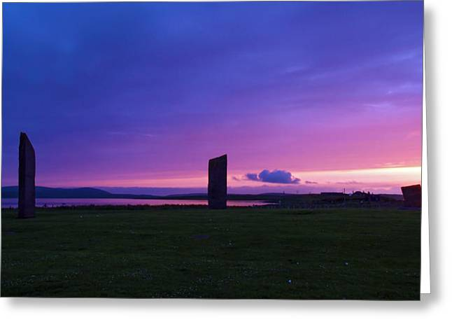 Stenness Sunset 3 Greeting Card by Steve Watson