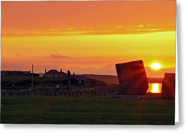 Stenness Sunset 4 Greeting Card by Steve Watson