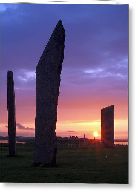 Stenness Sunset 5 Greeting Card by Steve Watson