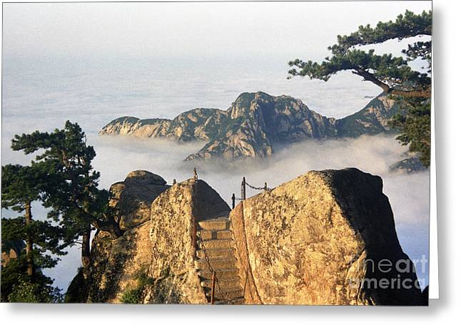 Step Into Heaven Greeting Card by King Wu