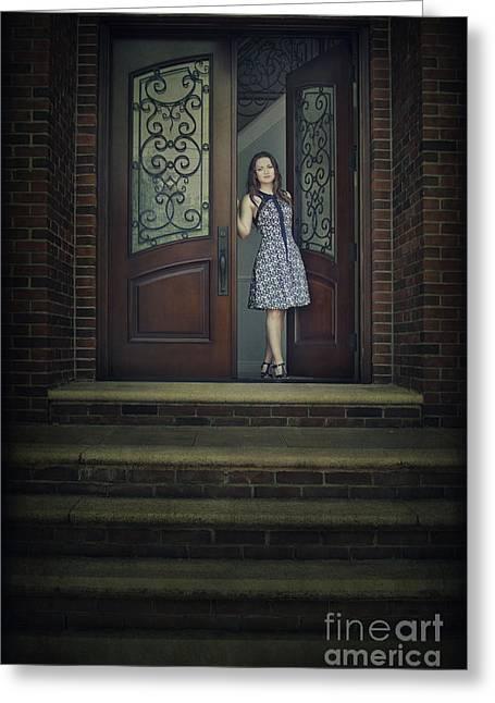 Step Into My Dream Greeting Card by Evelina Kremsdorf