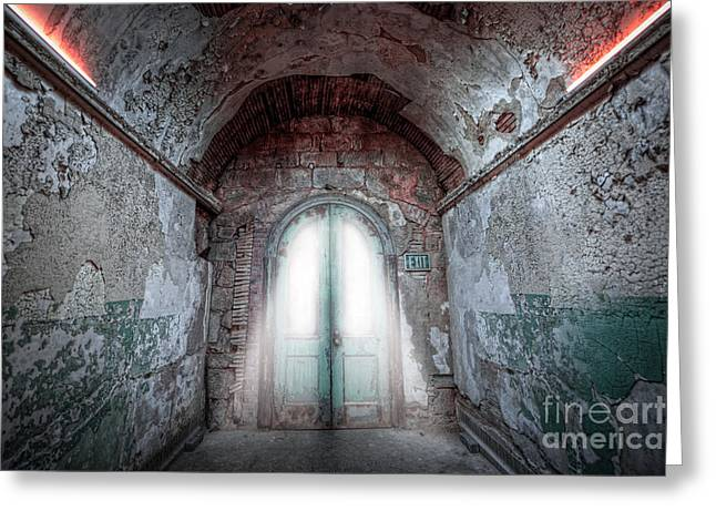 Step Into The Light Greeting Card by Michael Ver Sprill