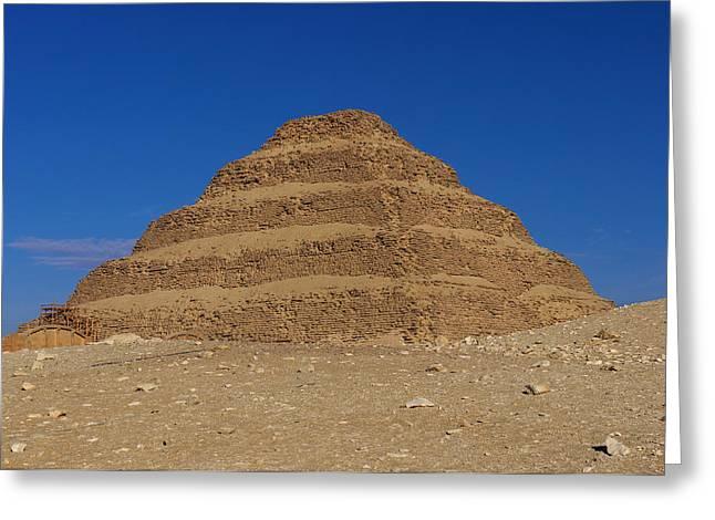 Step Pyramid Of King Djoser At Saqqara  Greeting Card