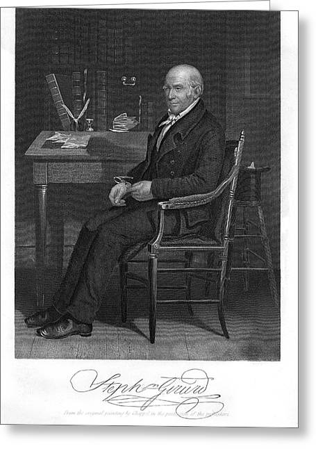Stephen Girard  American Statesman Greeting Card by Mary Evans Picture Library