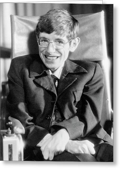 Stephen Hawking Greeting Card by Emilio Segre Visual Archives/american Institute Of Physics/science Photo Library