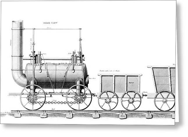 Stephenson's Locomotive Greeting Card