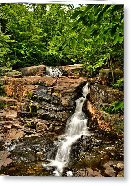 Stepped Falls - Ellsworth New Hampshire Greeting Card by Naturally NH