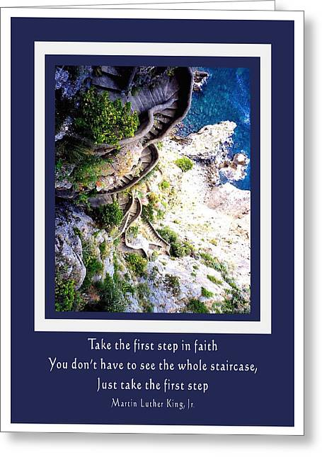 Stepping Into Faith Greeting Card
