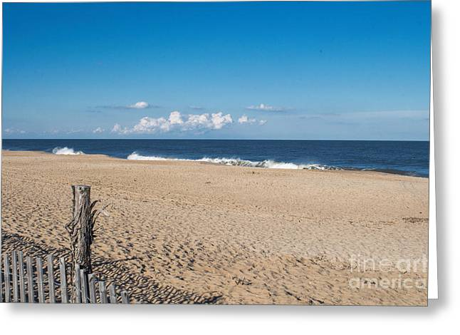 Stepping Onto The Beach Greeting Card