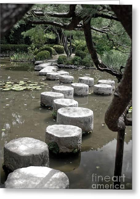 Stepping Stone Kyoto Japan Greeting Card