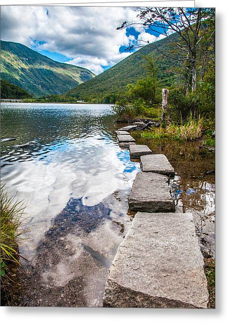 Stepping Stones Greeting Card by Kristopher Schoenleber