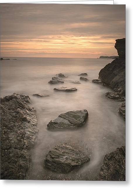 Stepping Stones To Oblivion Greeting Card by Andy Astbury