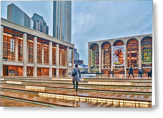 Steps To Fame Lincoln Center Greeting Card