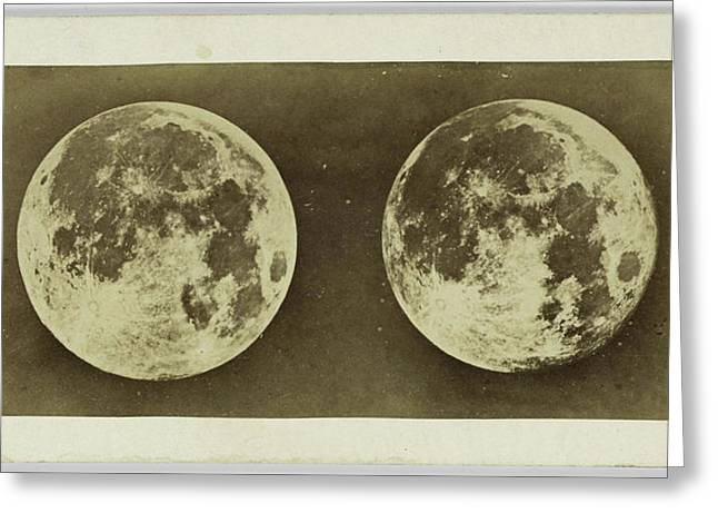 Stereoscopic Image Of The Full Moon, Andries Jager Greeting Card by Artokoloro