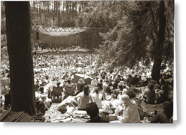 Greeting Card featuring the photograph Stern Grove Concert by Hiroko Sakai