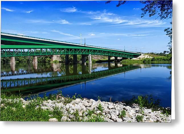 Sterns Road Bridge Greeting Card by Lauri Novak