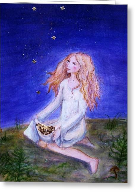 Sterntaler Greeting Card by Vera Atlantia