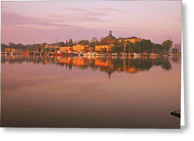 Sternwheeler In A River, Skeppsholmen Greeting Card by Panoramic Images