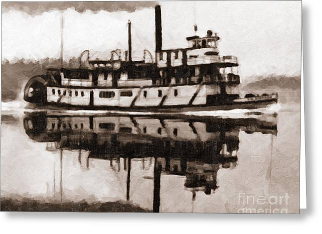 Sternwheeler Sol Simpson 1910 Greeting Card