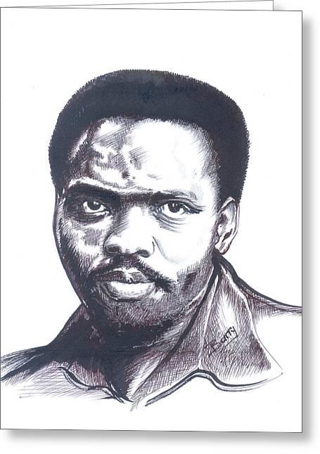 Steve Biko 02 Greeting Card by Emmanuel Baliyanga