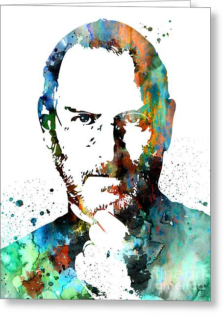 Steve Jobs Greeting Card by Watercolor Girl
