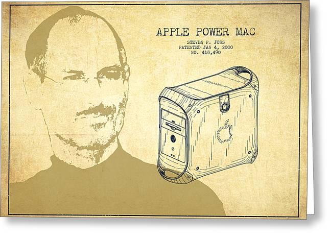 Steve Jobs Power Mac Patent - Vintage Greeting Card