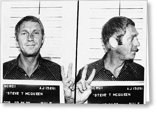 Steve Mcqueen Mugshot Greeting Card