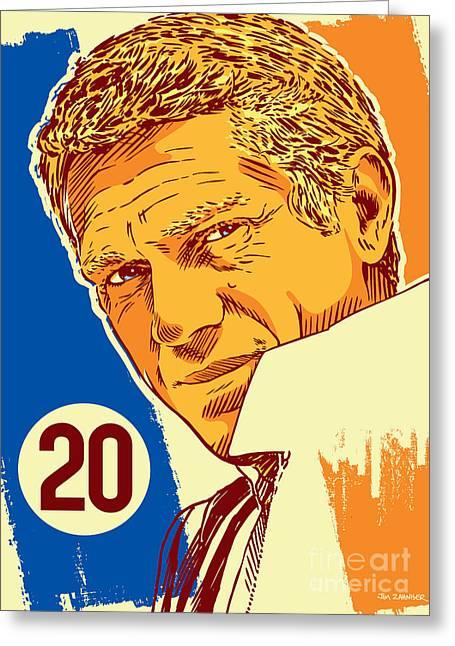 Steve Mcqueen Pop Art - 20 Greeting Card by Jim Zahniser