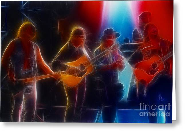 Steve Miller Band Fractal-1 Greeting Card by Gary Gingrich Galleries