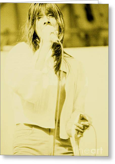 Steve Perry Of Journey At Day On The Green - July 27th 1980 Greeting Card
