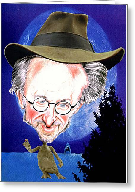 Steven Spielberg Greeting Card by Diego Abelenda