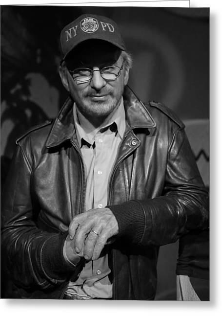 Steven Spielberg Greeting Card by Lee Dos Santos