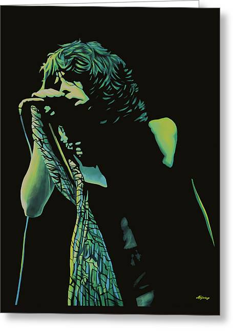 Steven Tyler 2 Greeting Card by Paul Meijering