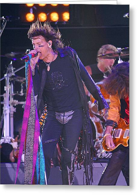 Steven Tyler Aerosmith Greeting Card by Don Olea