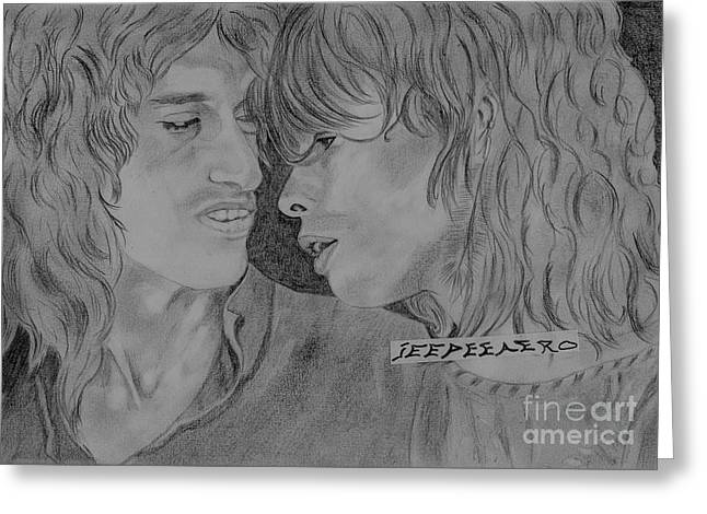 Steven Tyler And Joe Perry Image Pictures Greeting Card