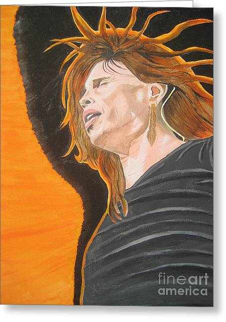 Steven Tyler Art Painting Greeting Card by Jeepee Aero
