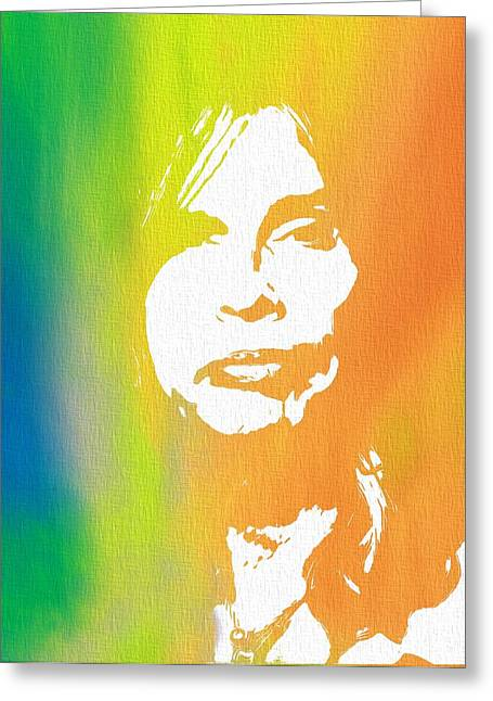 Steven Tyler Canvas Greeting Card