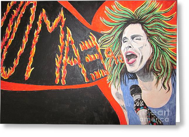 Steven Tyler Dream On Greeting Card by Jeepee Aero