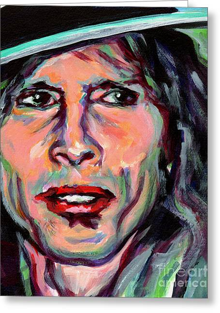 Steven Tyler Greeting Card by Tanya Filichkin