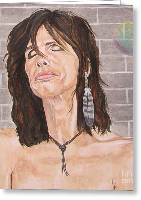 Steven Tyler Dreams On Greeting Card by Jeepee Aero