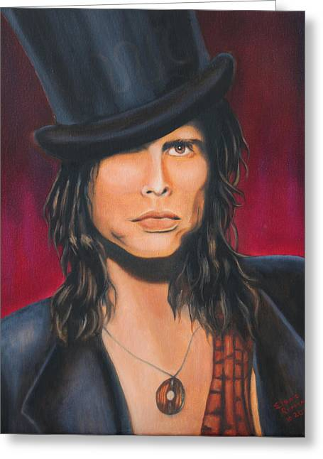 Steven Tyler Greeting Card by Elena Melnikova