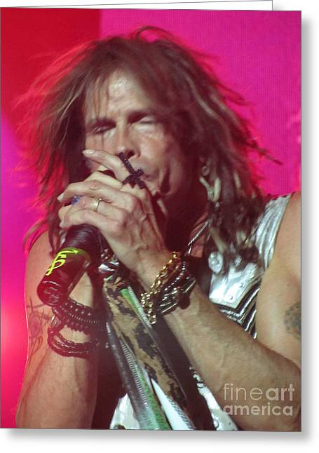 Steven Tyler Picture Greeting Card by Jeepee Aero