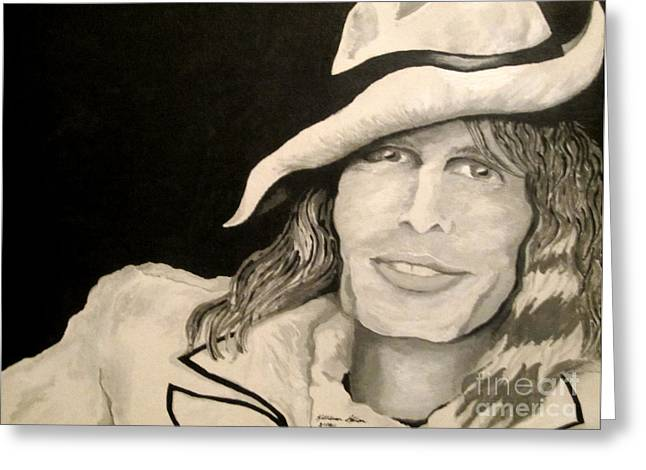 Steven Tyler Portrait Greeting Card