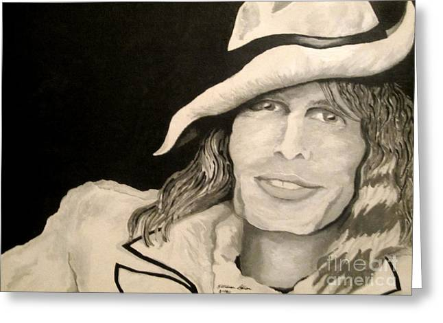 Steven Tyler Portrait Greeting Card by Kathleen Allen
