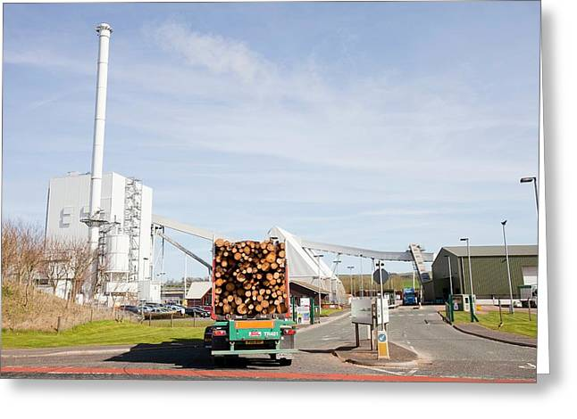 Steven's Croft Biofuel Power Station Greeting Card by Ashley Cooper