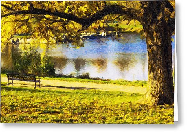 Stevens Lake Park Series 03 Greeting Card by David Allen Pierson