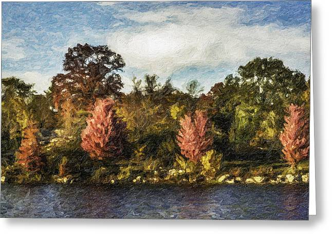 Stevens Lake Park Series 06 Greeting Card by David Allen Pierson