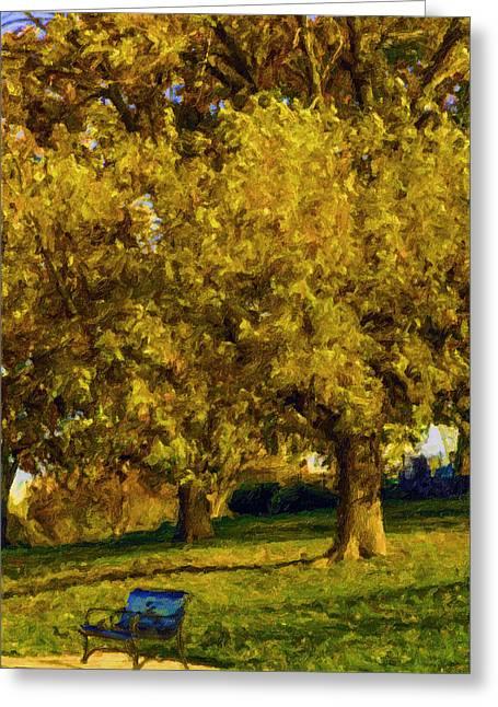 Stevens Lake Parkseries 02 Greeting Card by David Allen Pierson
