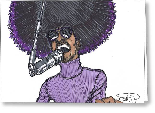 Stevie Afro Greeting Card by SKIP Smith
